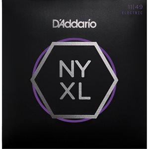 D'ADDARIO NYXL1149 NICKEL WOUND ELECTRIC GUITAR STRINGS, MEDIUM, 11-49