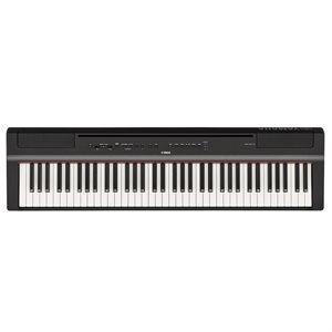 YAMAHA P121B COMPACT 73 NOTE PORTABLE DIGITAL PIANO, BLACK