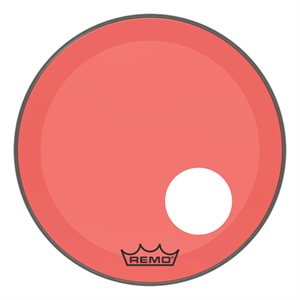 REMO P3 COLORTONE RED BASS OFFSET HOLE 20 P3-1320-CT-RDOH