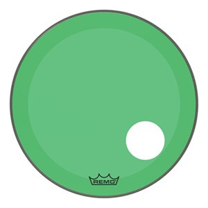 REMO P3 COLORTONE GREEN BASS OFFSET HOLE 22 P3-1322-CT-GNOH