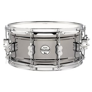 PACIFIC CONCEPT SERIES PDSN6514BNCR - PDP Concept Series Black Nickel over Steel Snare with Chrome Hardware 6.5X14