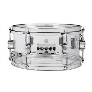 PACIFIC DRUMS PDSN0612SSCS 6X12 CHAD SMITH ACRYLIC WITH CHROME HDW