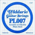 D'ADDARIO PL007 PLAIN STEEL GUITAR SINGLE STRING .007