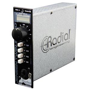 RADIAL ENGINEERING TWIN-SERVO 500 SERIES MICROPHONE PREAMPLIFIER R700 0111 00