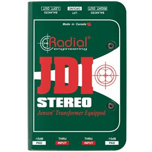 RADIAL ENGINEERING JDI STEREO PREMIUM STEREO PASSIVE DI R800 1012 00