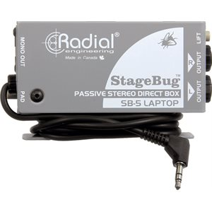 RADIAL ENGINEERING STAGEBUG SB-5 COMPACT STEREO LAPTOP DI R800 0150 00