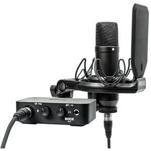 RODE MICROPHONES AI-1 KIT COMPLETE STUDIO KIT WITH AUDIO INTERFACE, NT1 MICROPHONE, SHOCK MOUNT AND CABLES