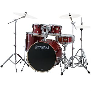 YAMAHA SBX2F56-CR STAGE CUSTOM 5-PIECE CRANBERRY RED W/HARDWARE (2214BD, 1007T, 1208T, 1614FT, 1455SD)