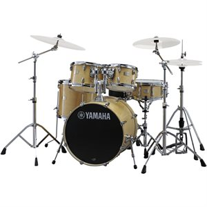 YAMAHA SBX2F56-NW STAGE CUSTOM 5-PIECE NATURAL WOOD W/HARDWARE (2214BD, 1007T, 1208T, 1614FT, 1455SD)