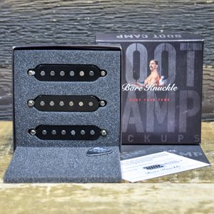 BARE KNUCKLE BOOT CAMP TRUE GRIT STRAT COILS SET 6-STRING RWRP BLACK COVERS #STRSTG-BLK