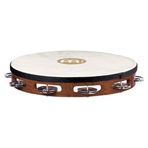 MEINL TAH1AB TAMBOURINE WOOD 1 ROW STEEL JINGLE GOAT HEAD