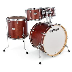 YAMAHA TMP2F4-CHS TOUR CUSTOM 4-PIECE SHELL PACK CHOCOLATE SATIN (2216BD, 1007T, 1208T, 1615FT)