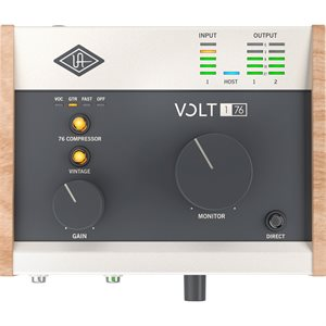 UNIVERSAL AUDIO VOLT 176 DESKTOP 1-IN/2-OUT USB 2.0 AUDIO INTERFACE WITH PROFESSIONAL AUDIO CONVERSION