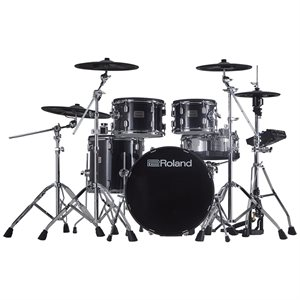 ROLAND VAD506 V-DRUMS ACOUSTIC DESIGN PREMIUM FIVE-PIECE KIT FEATURES WOODEN SHELLS WITH FULL DEPTH AND DIAMETER AND DYNAMIC TD-27 DRUM MODULE
