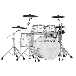 ROLAND VAD706-PW POLISHED WHITE V-DRUMS ACOUSTIC DESIGN THE PERFECT FUSION OF ACOUSTIC AND ELECTRONIC DRUMS