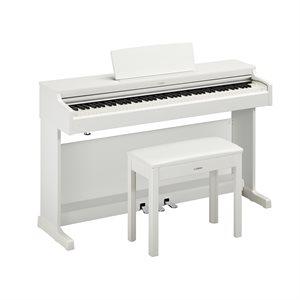 YAMAHA ARIUS YDP-164 DIGITAL PIANO WITH BENCH, WHITE