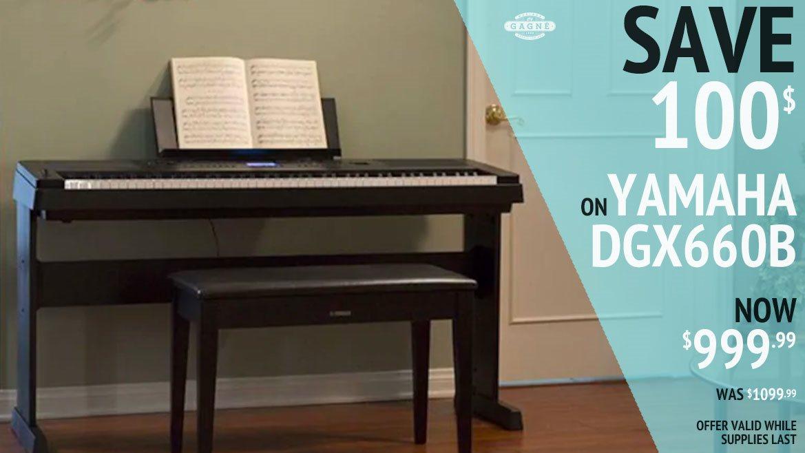Save 100 on DGX660B piano